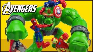 Avengers Assemble Captain America Hulk Iron Man Spider-Man Thor Wolverine Fight Castle Ogre