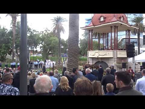 Geelong Youth Choir sing Shackleton at Geelong Remembrance Day 2018
