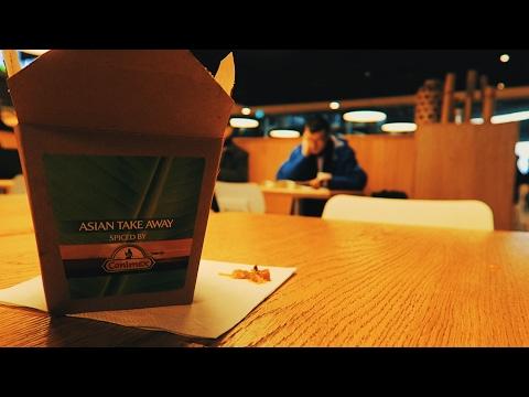 Asian Takeaway Sweet Spicy Chilli Noodles Food Review & Street Graffiti Utrecht Netherlands