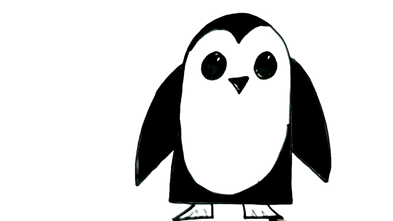 how to draw a penguin youtube