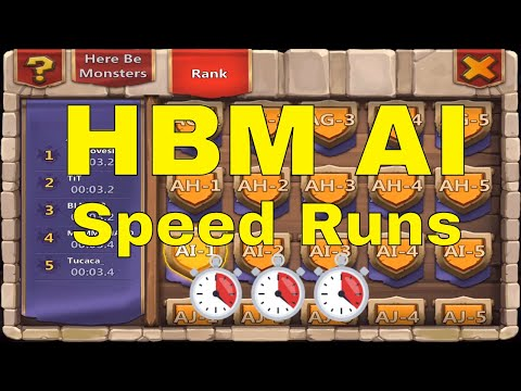 Castle Clash Here Be Monsters HBM AI Speed Run Strategy