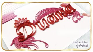 How to Make Quilled Monogram   Quilling Typography