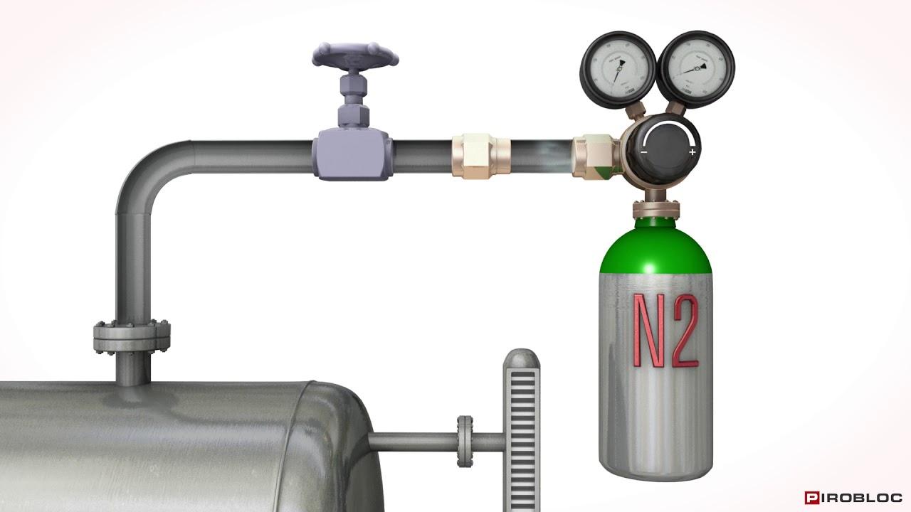 Blanketing de tanques de expansión de fluido térmico