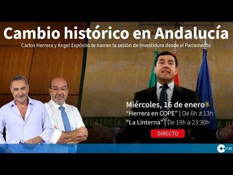 DIRECTO: Herrera y Expósito desde el Parlamento Andaluz #COPEinvestidura