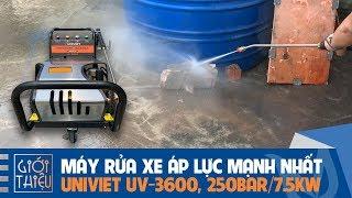 Máy rửa xe cao áp chạy điện 3 pha UNIVIET UV-3600 áp lực mạnh khủng khiếp 250BAR, công suất 7.5KW
