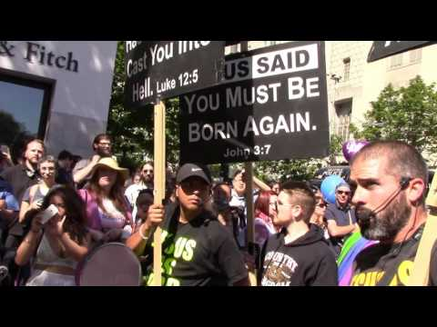 Preaching Seattle Gay Pride Parade 2016: Homosexuals hostile!