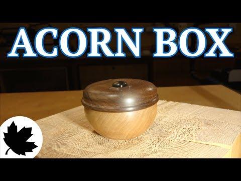 Turned Acorn Box