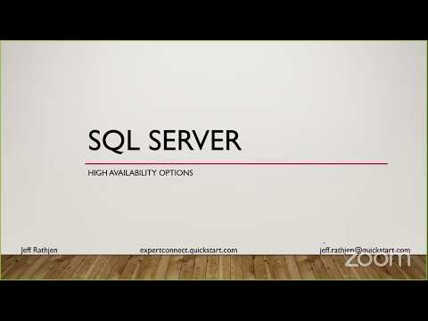 High Availability Options for SQL Server