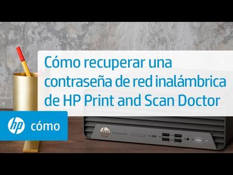 Cómo recuperar una contraseña de red inalámbrica de HP Print and Scan Doctor   HP Printers   HP