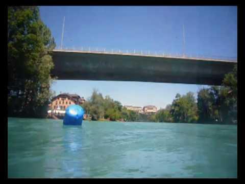 Aareschwumm Schönau-Marzili, 19. Juli 2010 - Unterwasseraufnahmen aus dem Fluss