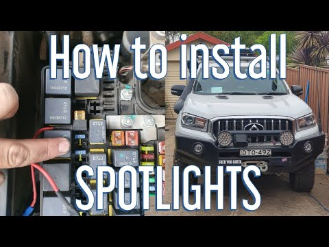 How To Install Spotlights 4wd Supercentre