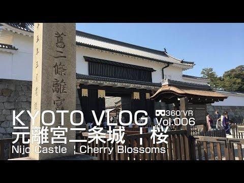 KYOTO VLOG  Vol.006  元離宮二条城¦桜 Nijo Castle  | Cherry Blossoms  @ THETA V 360° VR