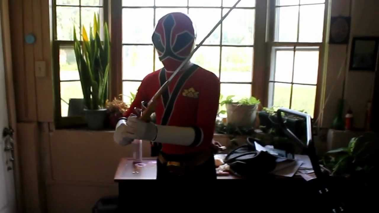 & Cosplay Power Ranger Samurai suit Test.MOV - YouTube