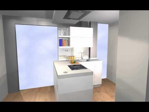 Cocina para apartamento todo integrado con peninsula y for Youtube cocina para todos
