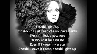 Adele Chasing pavements acoustic with lyrics