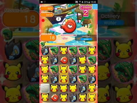Pokemon Shuffle Mobile Main Stage 625 Octillery S Rank & Caught with GB『ポケとる スマホ版』