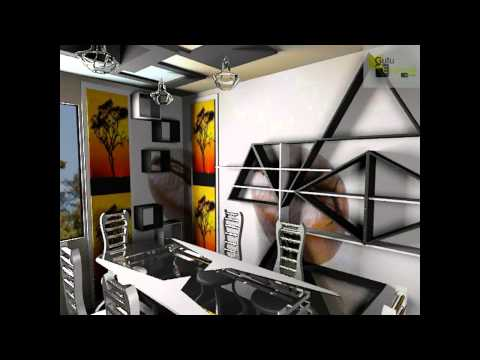 Дизайн кухни и оригинальных полок, оформление пространства