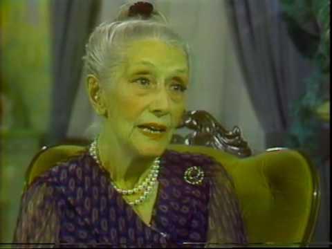 Lynn Fontanne--Rare 1980 TV Interview