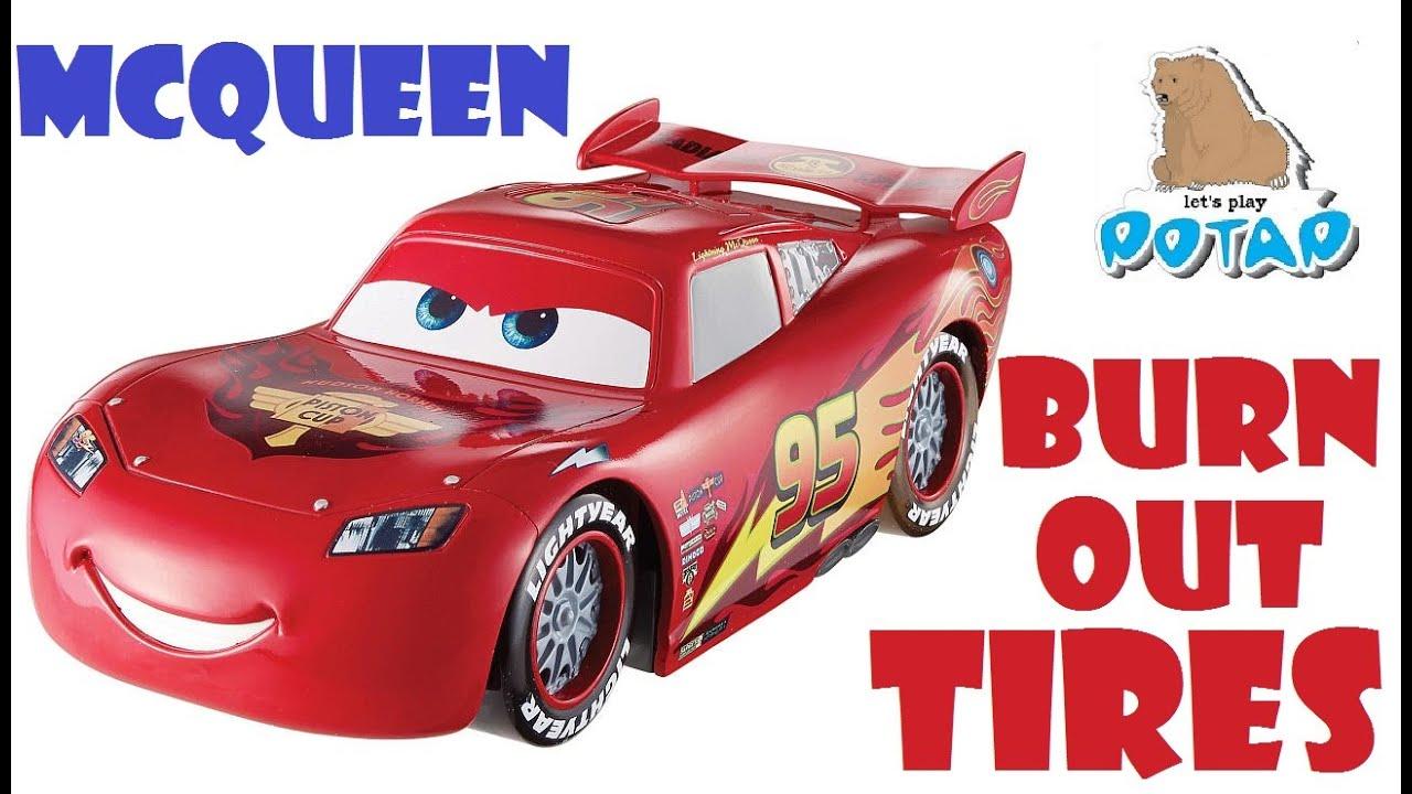 Lightning Mcqueen Burnout Tires Disney Car Toys молния маквин со светящимися шинами машинки тачки