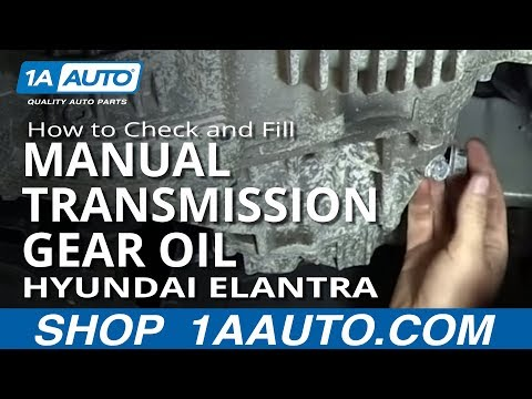 How To Check and Fill Manual Transmission Gear Oil 01-06 Hyundai