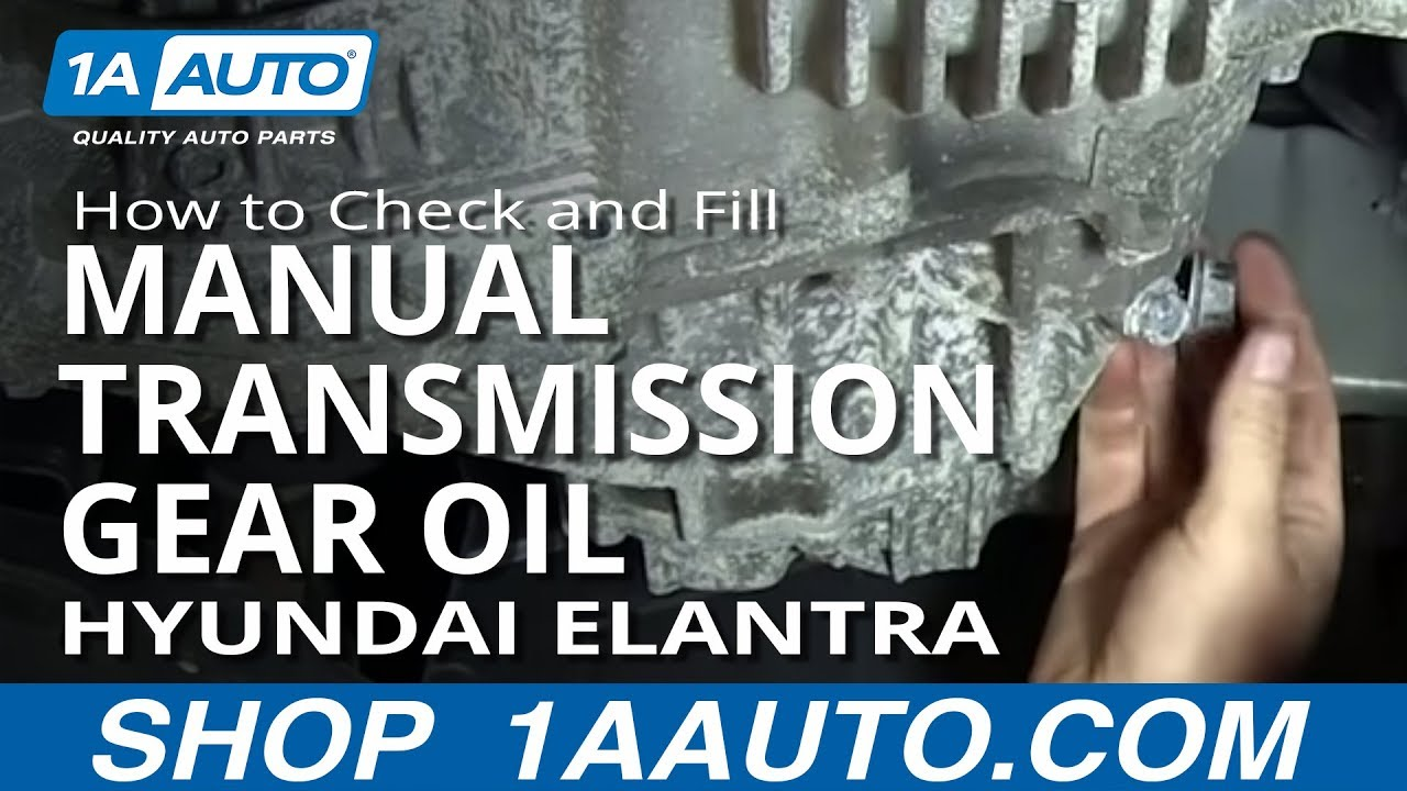 How To Check And Fill Manual Transmission Gear Oil 01 06 Hyundai Elantra