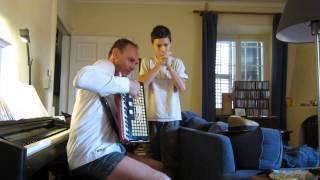 akordeon a hand flute, libor s janisem, cerven 2014 Thumbnail