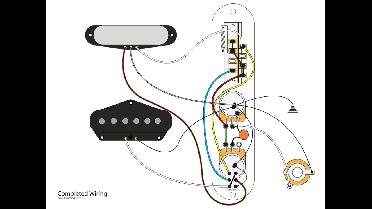4 way tele mod using a push pull switch youtube 4 way switch wiring 1 light wiring diagram for telecaster 4 way switch [ 1280 x 720 Pixel ]