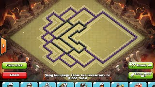Clash of Clans - Epic Town Hall 9 Trophy/War Base - 4 Mortars - 2014