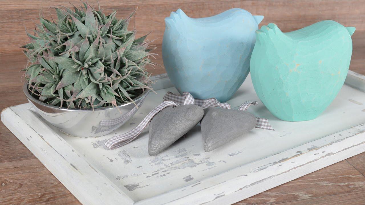 diy shabby chic mit kreidefarbe chalky und wachs einfach selbst gestalten youtube. Black Bedroom Furniture Sets. Home Design Ideas