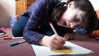 How to draw a cartoon popcorn