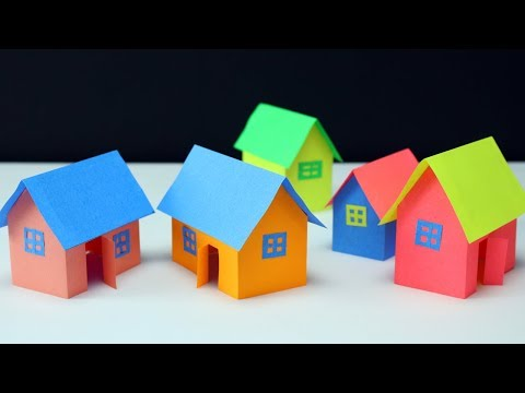 Paper house making-very easy way- best for school project work