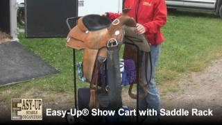 Easy-up® Show Cart With Saddle Rack From Schneiders
