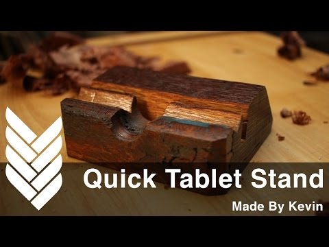 DIY Tablet stand built with reclaimed lumber