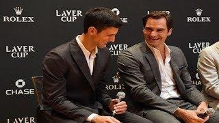 Novak Djokovic & Roger Federer FUNNY Interview - Laver Cup 2018 (HD)