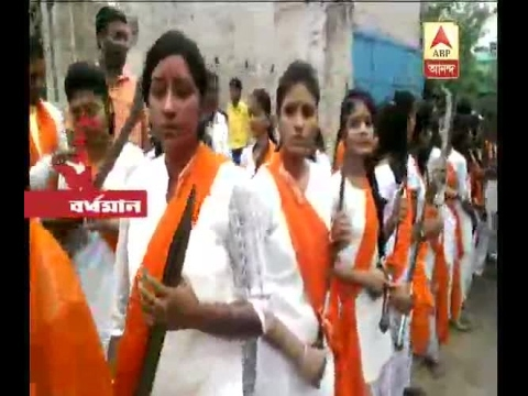 Women's procession on the occasion of Ramanavami with weapons at Durgapur