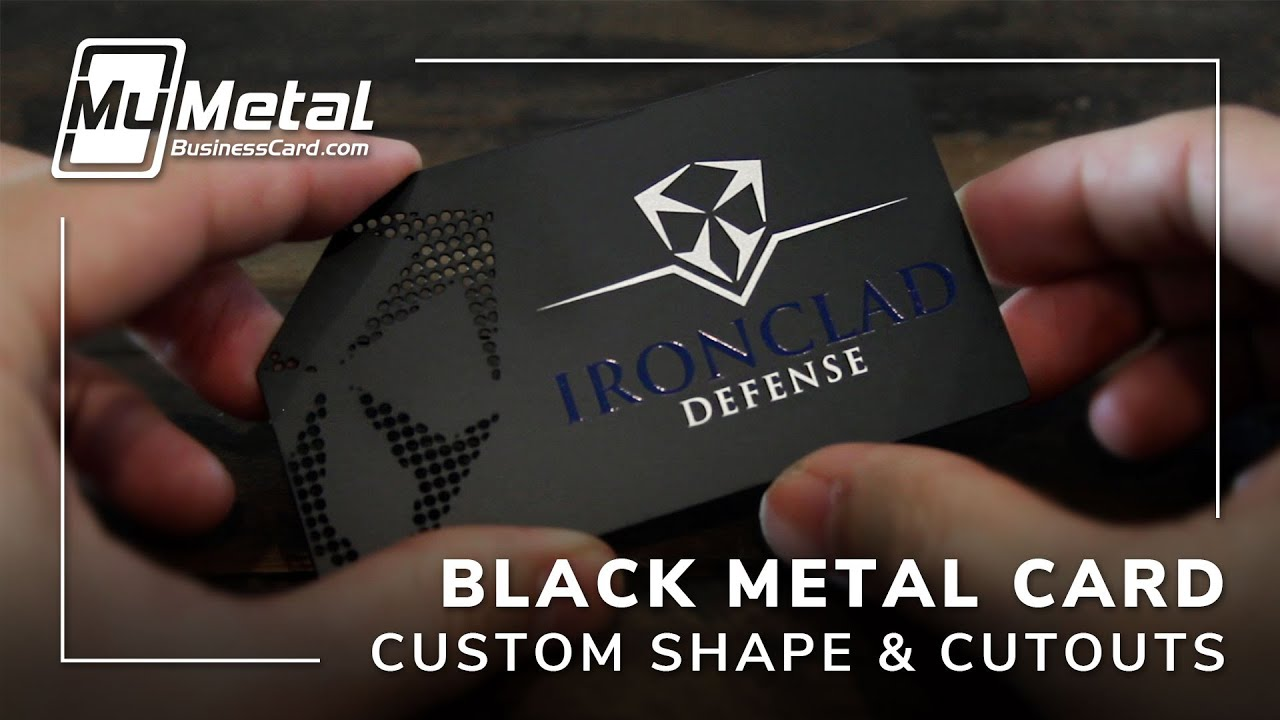 Sophisticated Custom Shaped Black Metal Business Card - YouTube