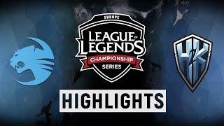 ROC vs. H2K - EU LCS Week 9 Day 2 Match Highlights (Spring 2018)