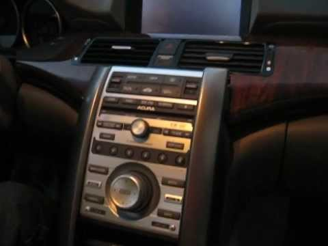 How To Remove Radio Navigation CD Changer From Acura RL For - 2005 acura tl dashboard replacement