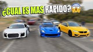 AUDI R8 VS DODGE VIPER ACR VS BMW M4 EN PISTA    ALFREDO VALENZUELA