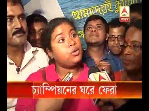 Bengal girl Sayani Das crosses turbulent English Channel returned home: Watch