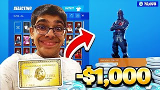 KID SPENDS $1,000 ON V-BUCKS USING COUSINS CREDIT CARD! CRAZY COUSIN GETS CARRIED!