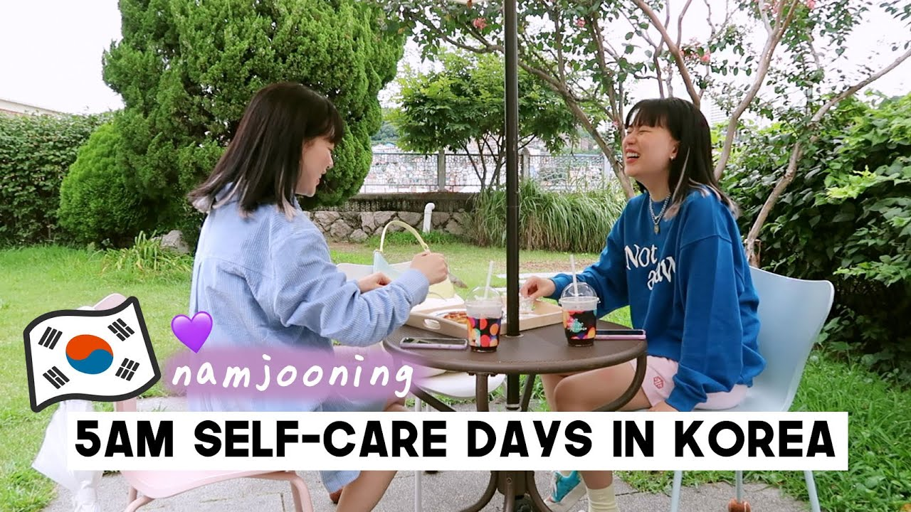 5AM Self-Care Days In Korea (getting vaccinated, Namjooning, cooking & visiting cafe) | Q2HAN
