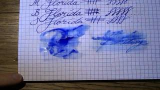 Inkcyclopedia: Waterman Florida Blue