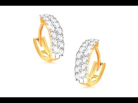Šperky - Náušnice v žltom 14K zlate - malé krúžky zdobené čírymi zirkónmi 9dea4b2e41e