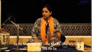 Rag Durga Lesson by Aradhana Karhade (WITH NOTATION!)