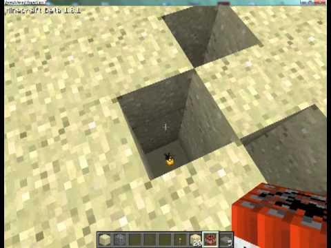 Minecraft Tret Minen Spiel Bauen YouTube - Minecraft spiele bauen