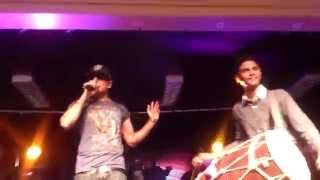 """RICKY FLORA Dhol & ROACH KILLA """"DIN RAAT"""" LIVE ON STAGE -Leicester"""