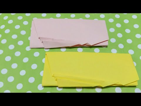 Easy Origami Envelope / Making a Paper Envelope Without Glue or Tape at Home / DIY Easy