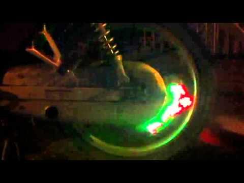 led wheel độ đèn xe máy hiển thị hình và chữ trên bánh xe | dodenxemay.vn