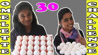 30 Omelette Eating Challenge | Omelet Eating competition | Foodie Girls